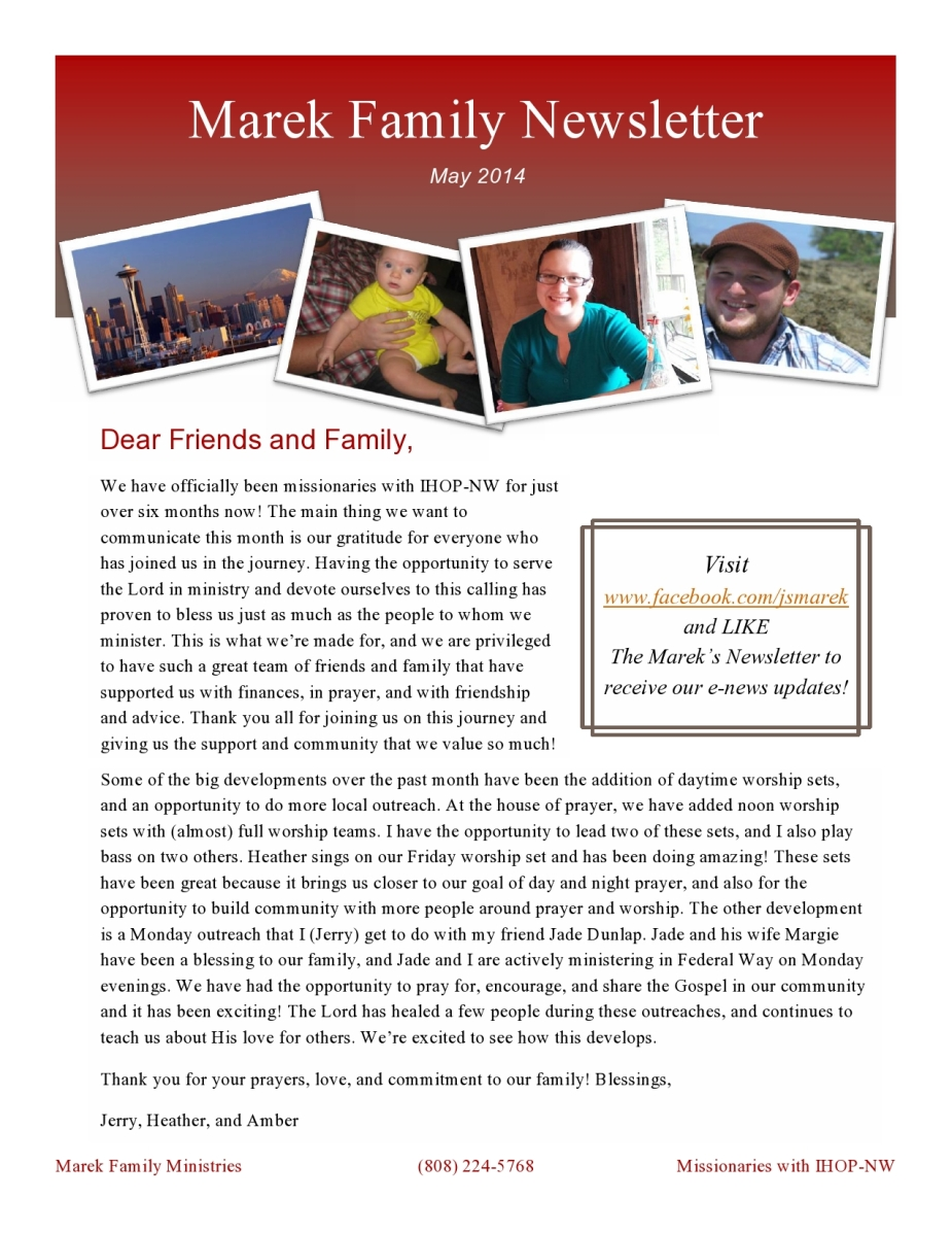 May 14 Newsletter PDF